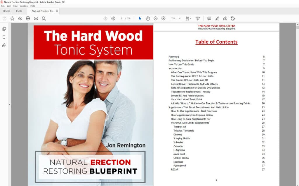 Hard Wood Tonic Table Of Content